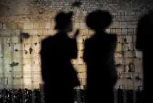 Jeruzalem 60 rokov Izraela, Múr nárekov, AFP PHOTO/JOE KLAMAR