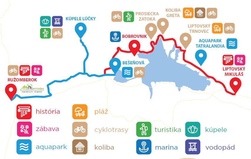 mapa cyklobus
